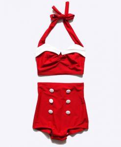 """Bikini """"Hello Sailor red"""" – Janna Drakeed"""