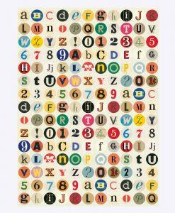 """Poster """"Vintage Letters"""" – Cavallini"""