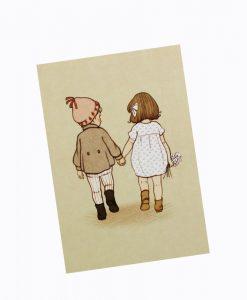 """VYKORT """"VÄNNER"""" – BELLE & BOO"""
