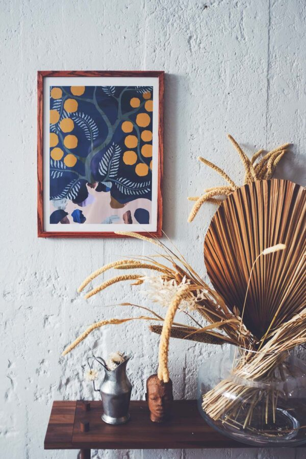 tavla med mimosa