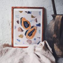 print papaya fanny schultz schulverket via vintagefabriken
