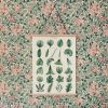 botanisk poster grona blad vintagefabriken