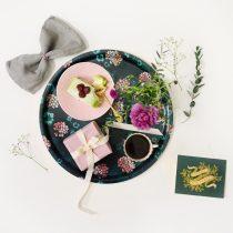 bricka blommor vintagefabriken