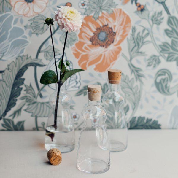 glasflaskor vintage