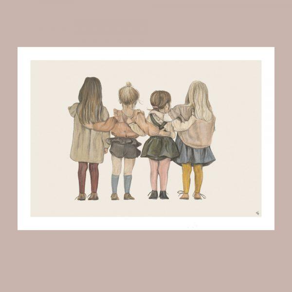 print med barn som ar kompisar