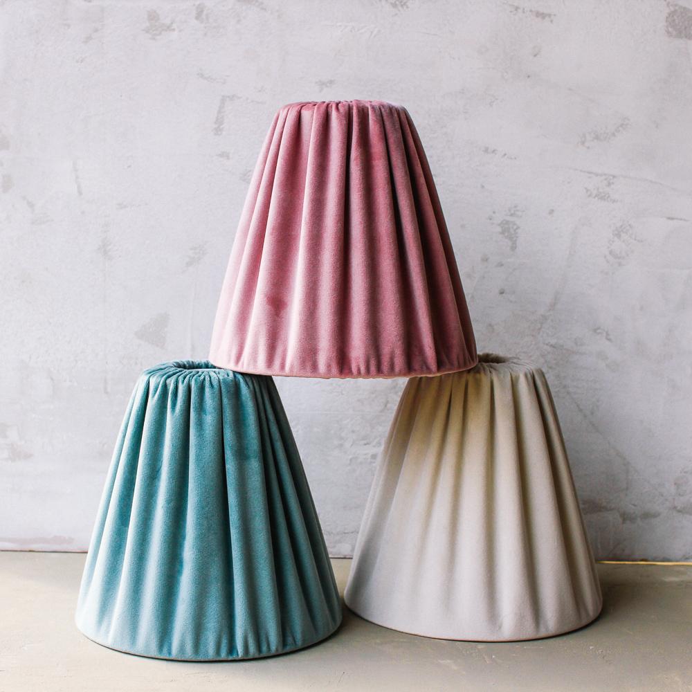 lampskarmar sammet vintage