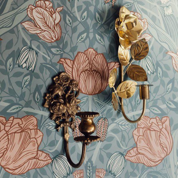 vintage lampett massing med tapet