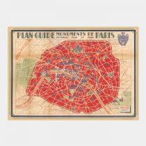 poster paris vintagefabriken