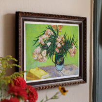tavla med blomman oelanders i vintageram